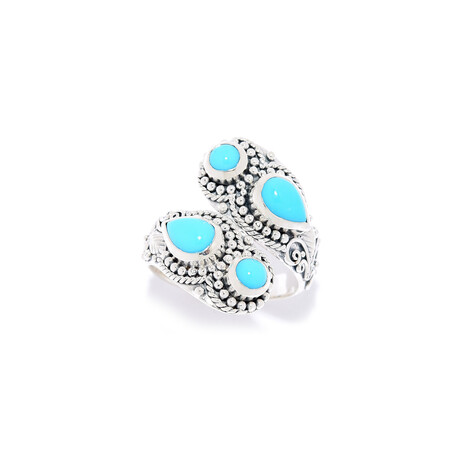 Women's Sleeping Beauty Turquoise Bypass Ring (5)