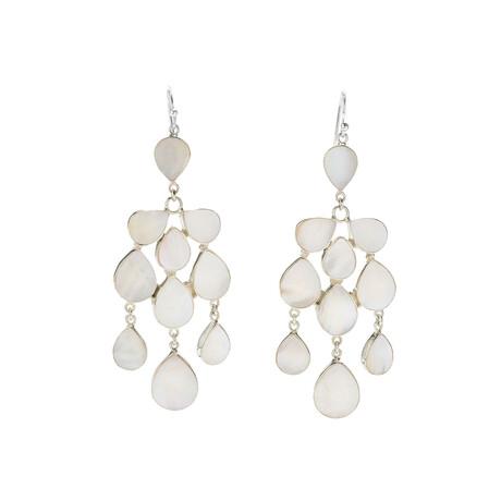 Women's Mother of Pearl Dangling Earrings