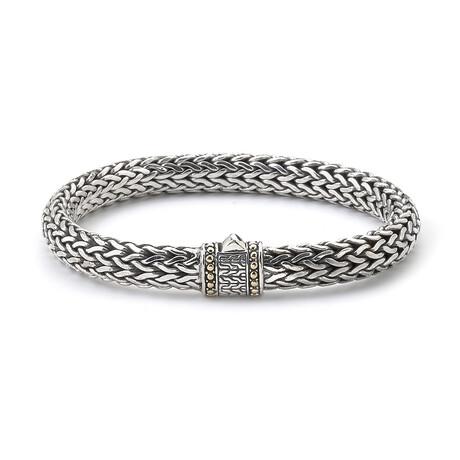 """Sterling Silver + 18K Gold Tulang Naga Bracelet (7.5""""L // 59g)"""