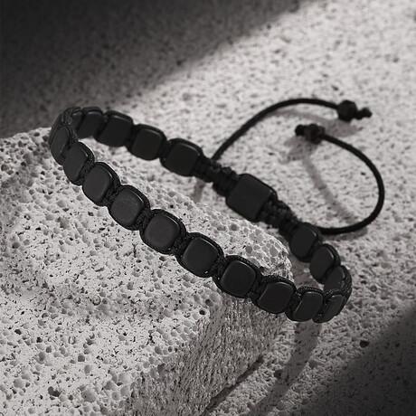 Hematite Stone Bracelet // Matte Black