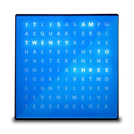 Alphabet Clock // Blue