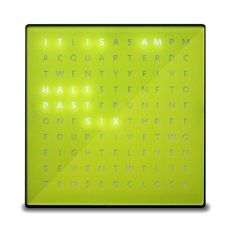 Alphabet Clock // Yellow