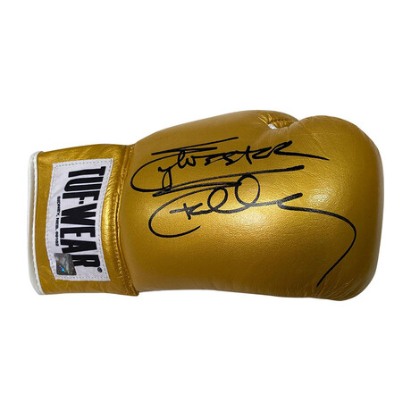Rocky // Sylvester Stallone // Autographed Gold Boxing Glove