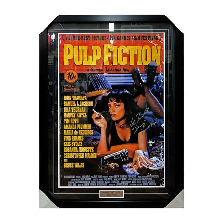 Pulp Fiction // John Travolta // Framed Autographed Movie Poster