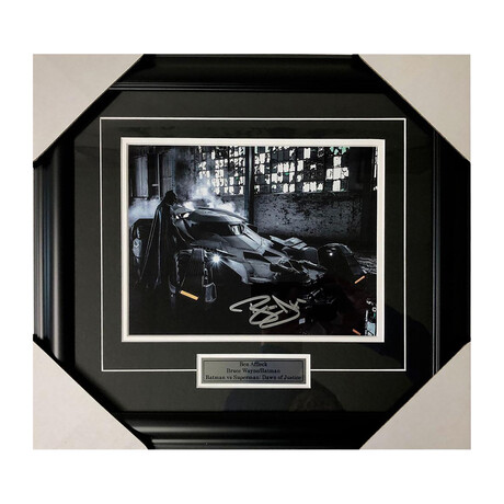 Batman // Ben Affleck // Framed Autographed Photo
