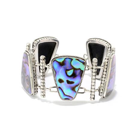 Women's Free Form Abalone Link Bracelet