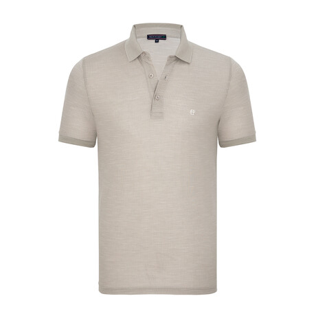 Valley Short Sleeve Polo Shirt // Beige (XS)