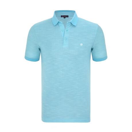 Chad Short Sleeve Polo Shirt // Turqoise (XS)