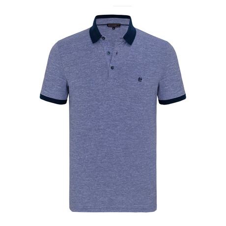 Franco Short Sleeve Polo Shirt // Blue (XS)
