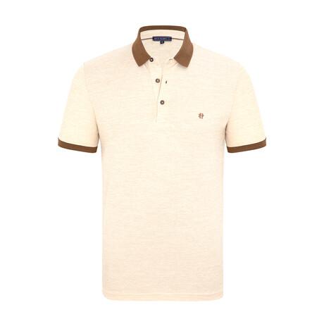 Sebastian Short Sleeve Polo Shirt // Beige (XS)