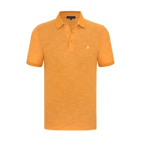 Cameron Short Sleeve Polo Shirt // Yellow (XS)