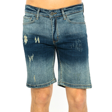 Myles Denim Shorts // Navy (XS)