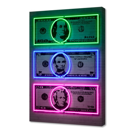 "Dollars (16""W x 24""H x 1.5""D)"