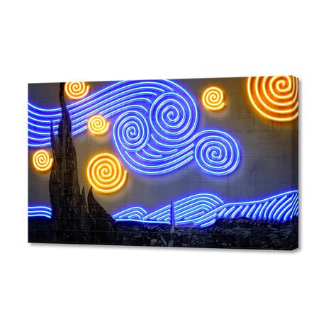 """Starry Night (24""""W x 16""""H x 1.5""""D)"""