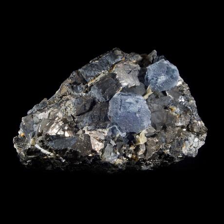 Phenomenal Fluorite on Wolframite