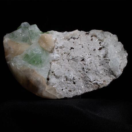 Apophyllite and Stilbite on Chalcedony