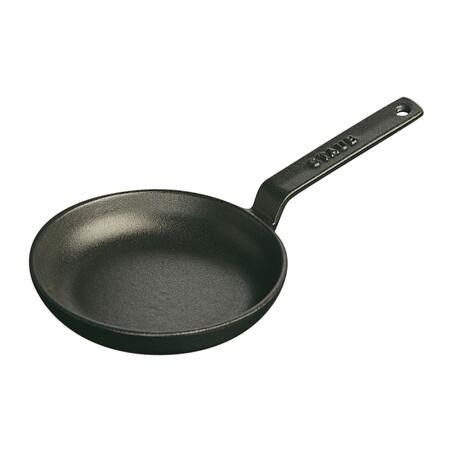 "Cast Iron Frying Pan // 4.5"" // Matte Black"