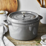 Round Tall Cocotte // 5 qt. (White)