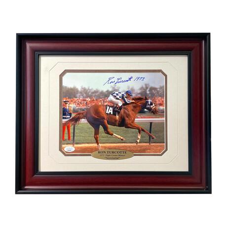 "Ron Turcotte Signed ""Secretariat"" Photo // Framed"