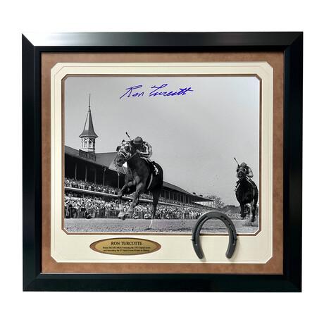 "Ron Turcotte Signed ""Secretariat"" Kentucky Derby Photo // Framed"