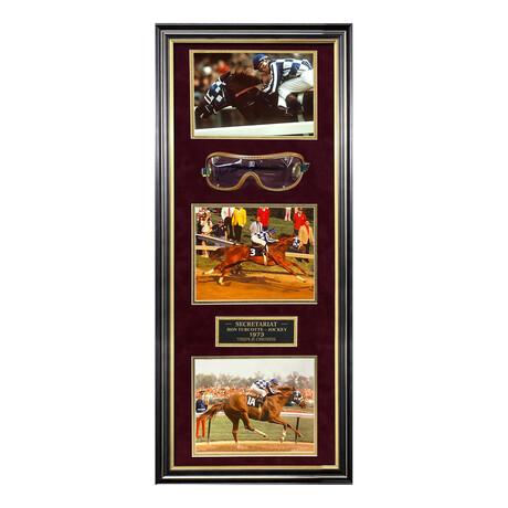Secretariat // Ron Turcotte // Framed + Signed Goggles