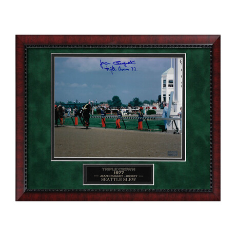 Seattle Slew // Jean Cruguet // Framed + Signed Photograph