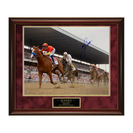 Justify // Mike Smith // Framed + Signed Photograph