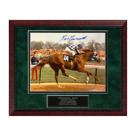 Secretariat // Ron Turcotte // Framed + Signed Photograph Ver. 2