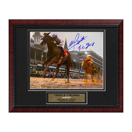 Justify // Mike Smith // Framed + Signed Photograph w/ Inscription