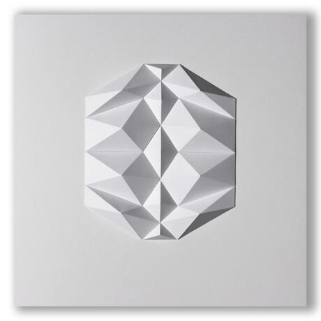 """Crisp Abstract Wall Sculpture // Dodeca R1 (15.75""""W x 15.75""""H x 2""""D)"""