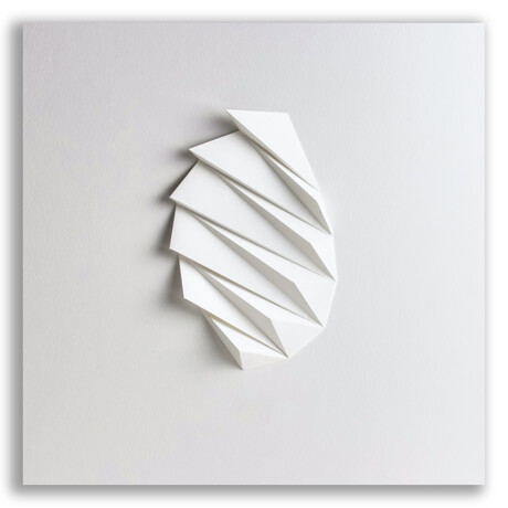 "Crisp Abstract Wall Sculpture // Pleat 2 (15.75""W x 15.75""H x 2""D)"