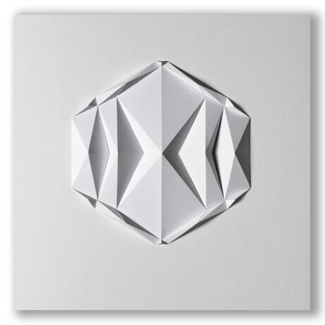 """Crisp Abstract Wall Sculpture // Dodeca E1 (15.75""""W x 15.75""""H x 2""""D)"""