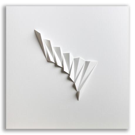 "Crisp Abstract Wall Sculpture // Pleat 1 (15.75""W x 15.75""H x 2""D)"