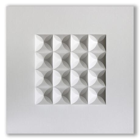 """Crisp Abstract Wall Sculpture // Cre 4 (15.75""""W x 15.75""""H x 2""""D)"""