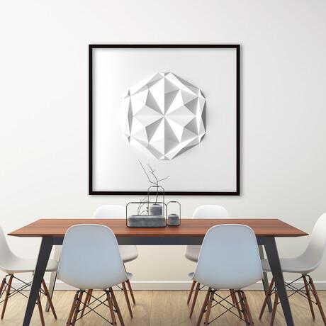 "Crisp Abstract Wall Sculpture // Dodeca V1 (15.75""W x 15.75""H x 2""D)"