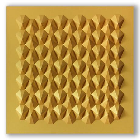 Crisp Abstract Wall Sculpture // Interlock Hexa I Gold