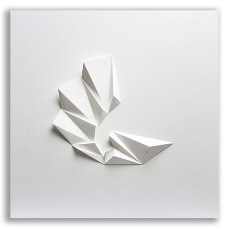 "Crisp Abstract Wall Sculpture // Pleat 3 (15.75""W x 15.75""H x 2""D)"
