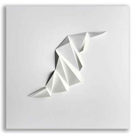 "Crisp Abstract Wall Sculpture Pleat // 4 (15.75""W x 15.75""H x 2""D)"