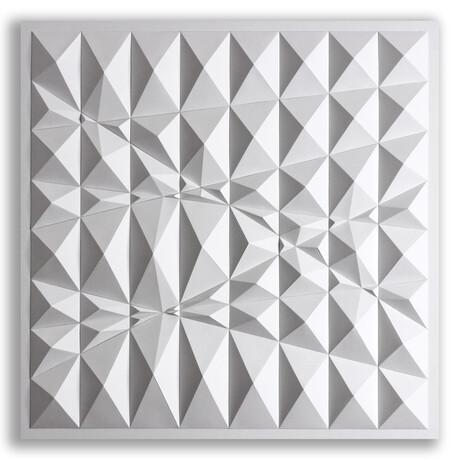 Crisp Abstract Wall Sculpture Sketch // S88V