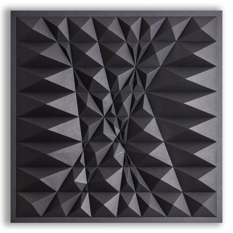 Crisp Abstract Wall Sculpture Sketch // S88H
