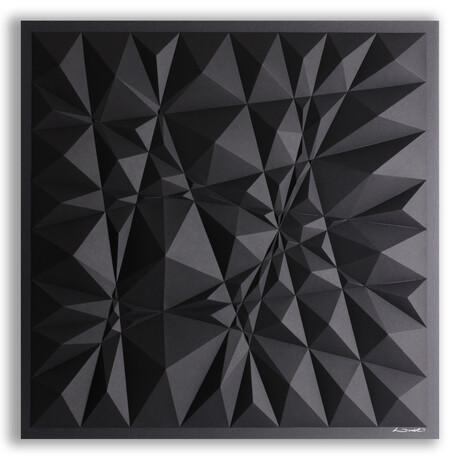 Crisp Abstract Wall Sculpture Sketch // S88