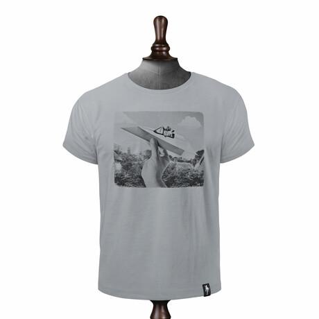 Plane Paper T-shirt // Highrise Gray (XS)