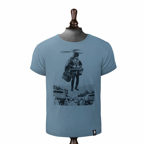 Traffic Buster T-shirt // Noble Blue (XS)