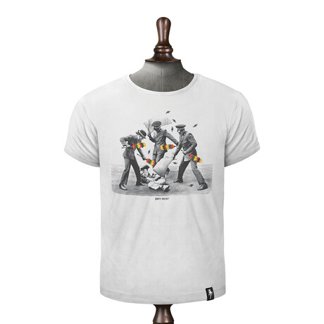 Armed Police T-shirt // Vintage White (XS)