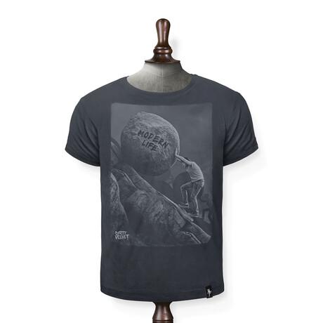 Uphill Struggle T-Shirt // Charcoal (XS)