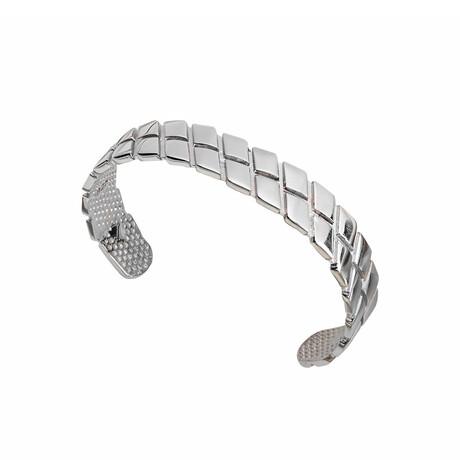 Square Cut Bracelet // White (XS)