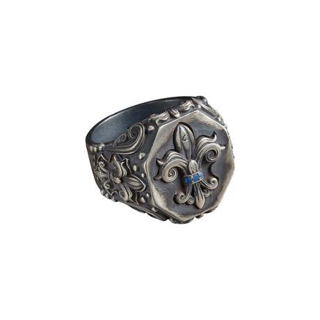 Fleur De Lis Ring // Gray (10)