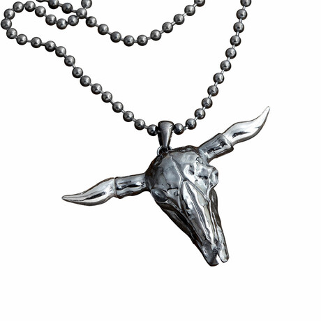 Bison Necklace // White (S)