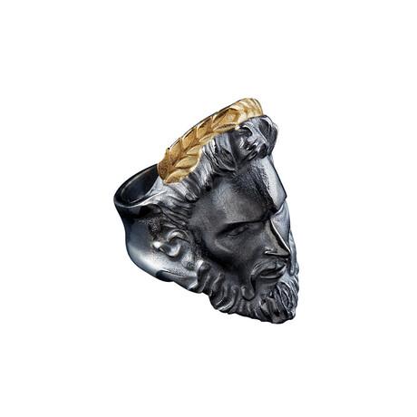 Zeus Ring // Black + Gold (10)