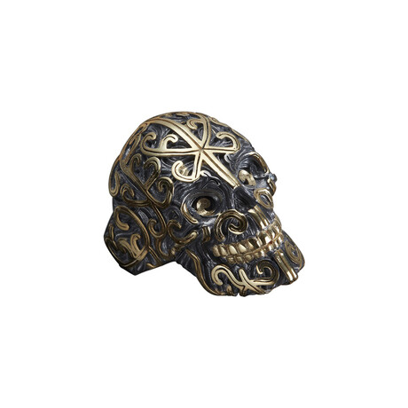 Exclusive Skull Ring // Black + Gold (10)
